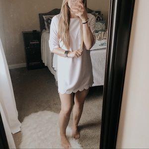 Tobi Sweetly Scalloped Lilac Shift Dress